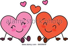 imagenes de amor con muñecos animados bonitos corazones pareja sentada la relación de amor de dibujos