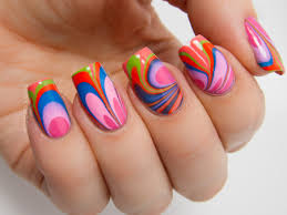 new summer water marble nail art nail designs pinterest