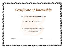 certificate of internship template all free word templates