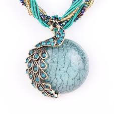 turquoise stone pendant necklace images Peacock choker necklace turquoise stone pendant your beautiful jpg
