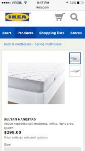 find more used ikea sultan hanestad queen mattress for sale at up