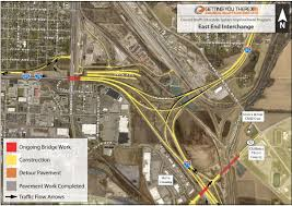 Iowa Road Conditions Map Council Bluffs Interstate East System Interchange
