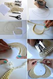 tutorial necklace making images A tutorial for making a quot pearl collar quot necklace from strings of jpg
