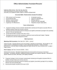 resume templates administrative assistant best administrative
