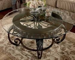 round glass top table with metal base glass and metal coffee tables homesfeed