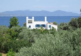 country house with private beach upper floor central greece