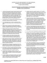 surface minimum bureau room utah blm utah paleontology permit terms and