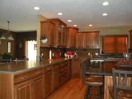 kraftmaid hickory belmont with sunset stain kitchens u0026 baths by