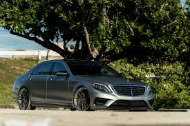 lowered mercedes matte silver mercedes s63 amg adv7r track spec cs series wheels