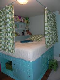 used bedroom dressers claire s bedroom repurposed dressers used to lift bed slats along