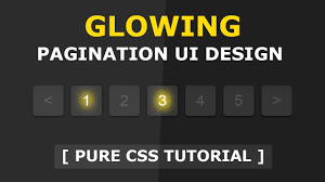 tutorial css design css glowing pagination ui design tutorial css hover effects css