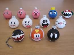mario and kirby ornaments choose any 4 by abitofimagination