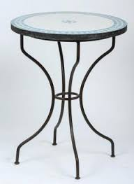 Tile Bistro Table Moroccan Mosaic Turquoise Blue Tile Bistro Table Iron Base