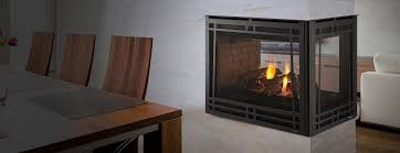 peninsula three sided gas fireplace heatilator
