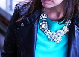 bromeliad my diy j crew crystal flower lattice necklace
