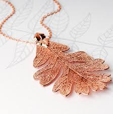 real leaf necklace images Large lacey oak real leaf necklace by grace valour jpg