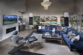 Navy Blue Sectional Sofa 50 Beautiful Living Rooms With Ottoman Coffee Tables Grey Tiles