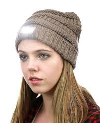 Knit Cap With Led Light Nyfashion101 Led Hands Free Light Winter Cable Knit Cuff Beanie Hat