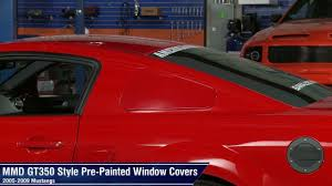mustang window covers mustang mmd gt350 style window covers pre painted 05 09 all