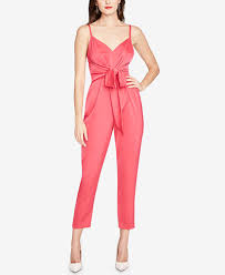 roy jumpsuit roy glare tie front jumpsuit created for macy s