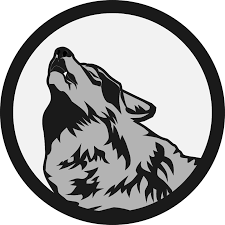 australian shepherd howling howling wolf logo markoze