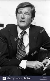 Roger Moore by Roger Moore British Actor In Stockholm For The Launch Of The James