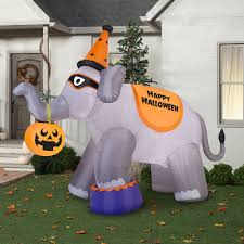 gemmy airblown inflatable 9 u0027 x 11 u0027 giant elephant halloween