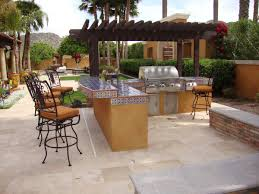 l shaped outdoor kitchen ideas rustic door ceramic backsplash