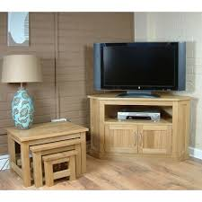 Mobel Oak Widescreen Corner Lcd Plasma Tv Stand Cabinet Click Oak - Corner cabinets for plasma tv