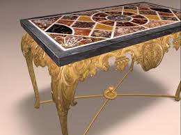 Marble Console Table Second Life Marketplace Antique Carved Gilt And Marble Console Table