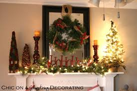 Rustic Mantel Decor Chic On A Shoestring Decorating Rustic Christmas Mantel