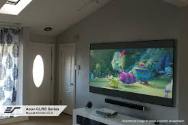 aeon clr series short throw projector screen elite screens
