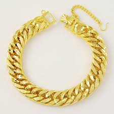 aliexpress buy new arrival fashion 24k gp gold hot gold color 12mm cable chain link bracelet for men wholesale