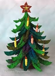 how to make christmas trees from corrugated paper simple craft ideas