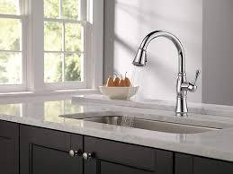 kitchen cabinet sink faucets delta faucet cassidy single handle kitchen sink faucet 9197 pr dst