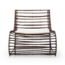 modern design rattan iron and beige fabric armchair diva