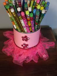 glue u0026 sparkle tutu can girly pencil holder