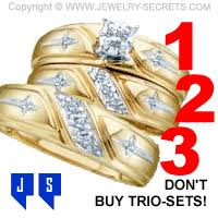 trio wedding sets trio sets not worth buying jewelry secrets