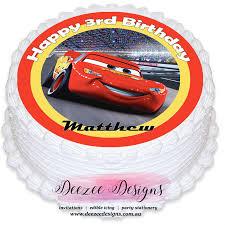 edible cake topper cars lightning mcqueen personalised edible cake topper pre
