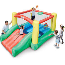 little tikes jump u0027n double slide bouncer walmart com