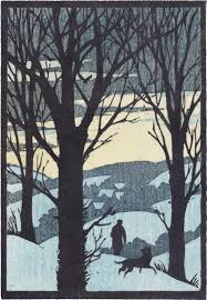 woodcut for christmas card by andrew davidson http www