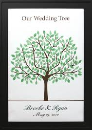 wedding trees wedding tree no 9 signature only thumbprint guestbooks