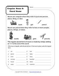singular and plural nouns plural nouns worksheets and sentence