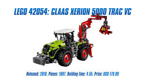 lego technic 42054 claas xerion 5000 trac vc u0027 unboxing parts