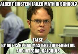 Albert Meme - albert einstein failed math in school false by age 15 he had