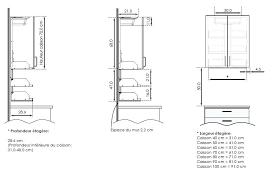 profondeur meuble cuisine taille standard meuble cuisine finest hauteur standard meuble de