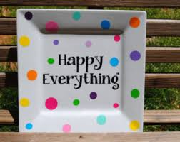happy everything plate happy everything etsy