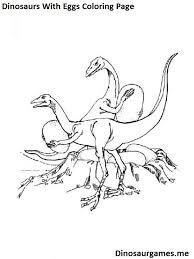 dinosaurs with eggs coloring page dinosaur coloring pages