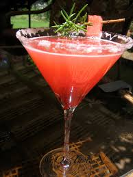 watermelon martini rosemary watermelon cocktail mocktail oh taste n see