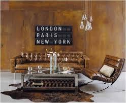 canapé marron cuir decoration com canapé cuir marron vieilli capitonné 3 places